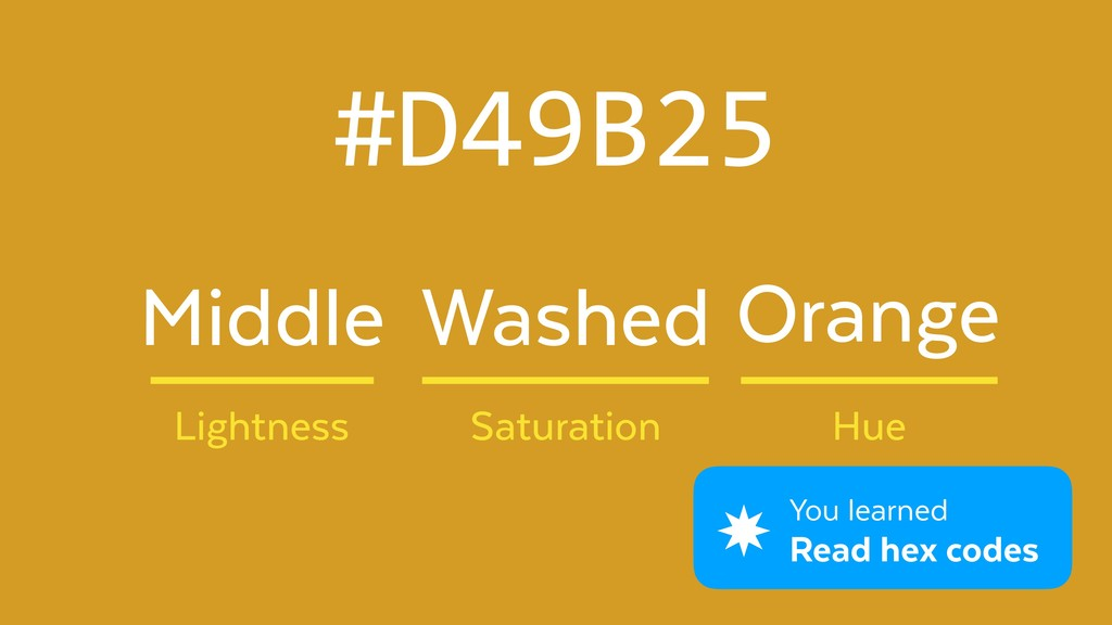 #D49B25 Washed Lightness Saturation Hue Middle ...