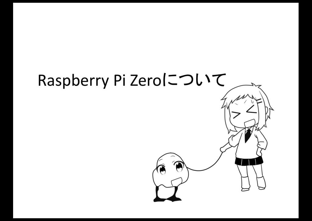 Raspberry Pi Zeroについて
