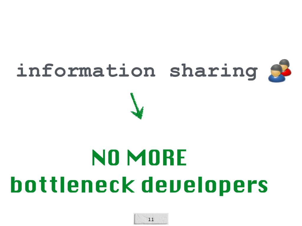 11 information sharing NO MORE bottleneck deve...