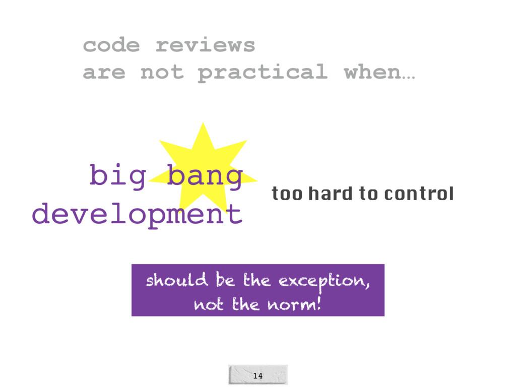 14 big bang development too hard to control sho...