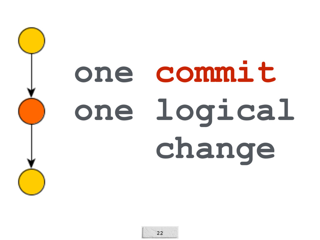 22 one commit one logical change