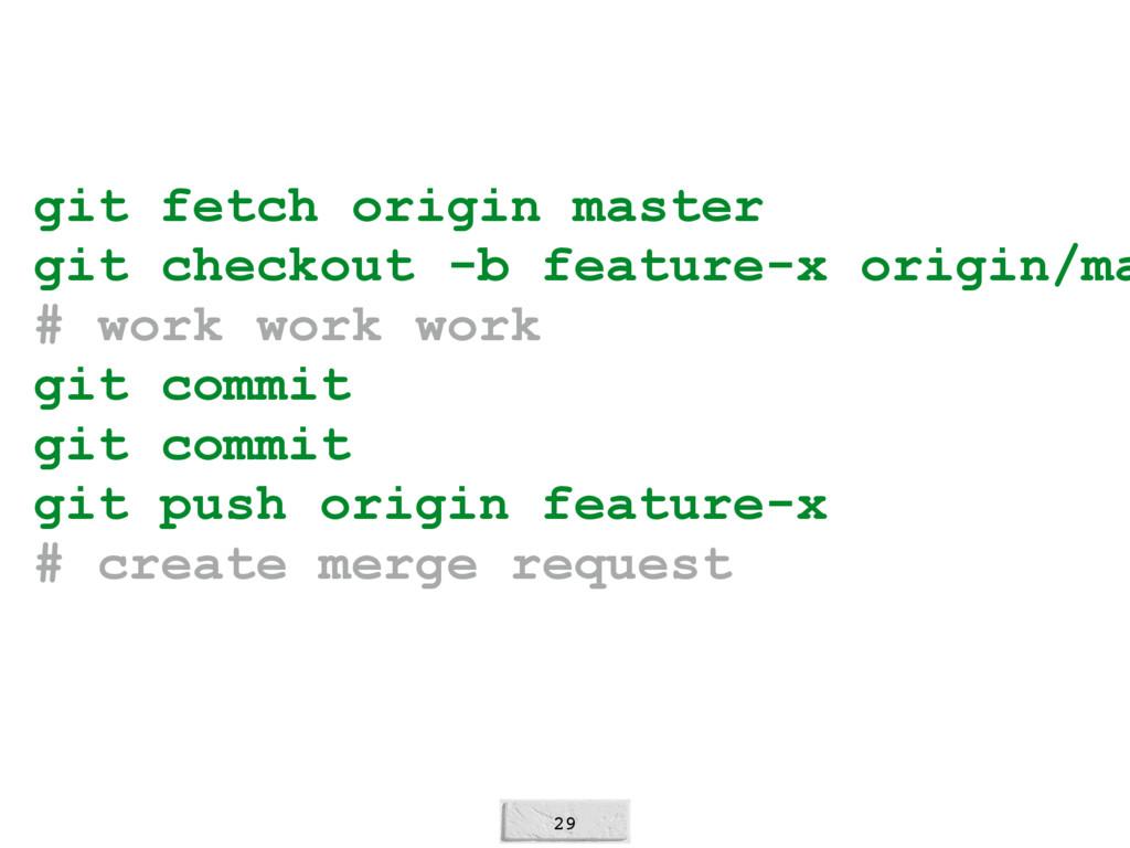 29 git fetch origin master git checkout -b feat...