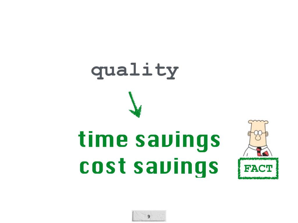 9 quality time savings cost savings FACT