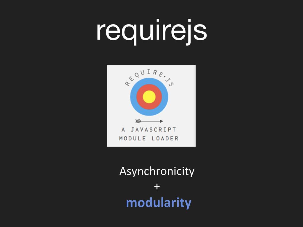 requirejs Asynchronicity  +   modular...