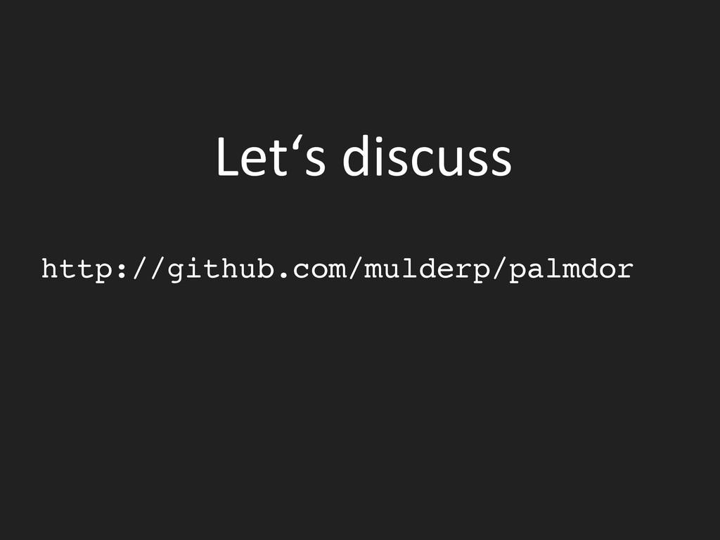 Let's discuss    http://github.com/mul...