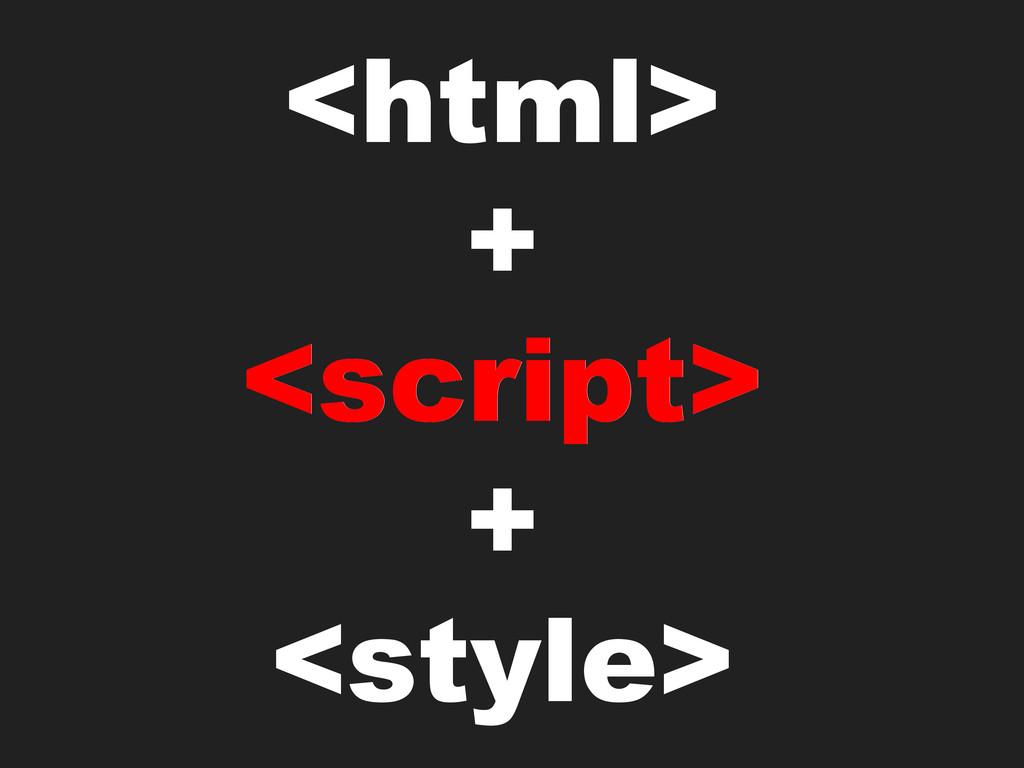<html> + <script> + <style> <script>