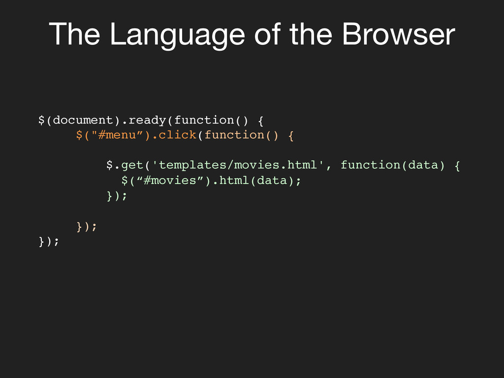 The Language of the Browser $(document).ready(...