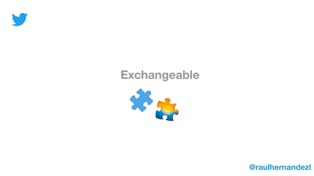 Exchangeable @raulhernandezl