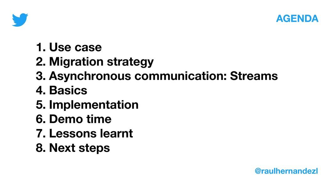 1. Use case 2. Migration strategy 3. Asynchrono...