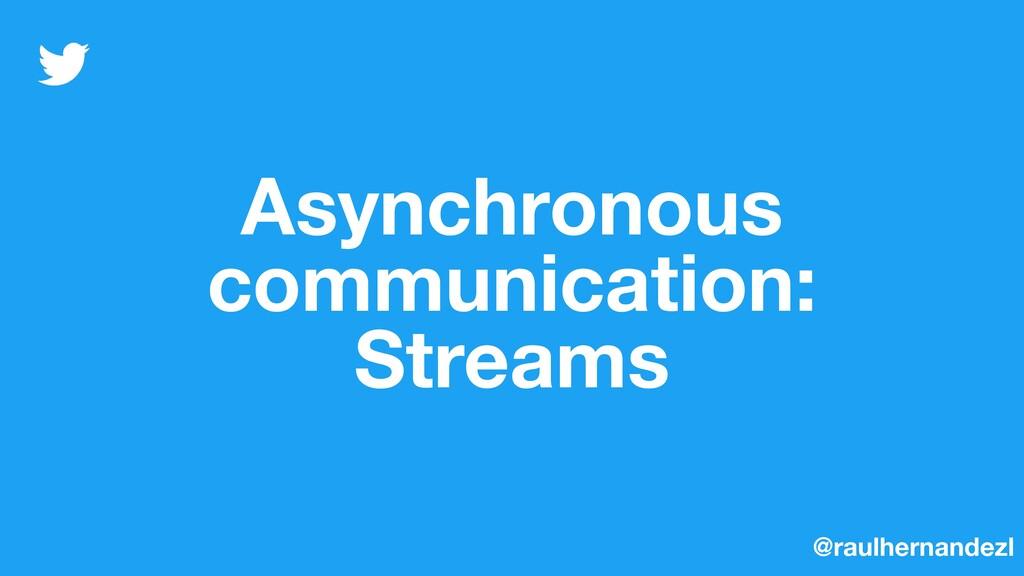 Asynchronous communication: Streams @raulhernan...