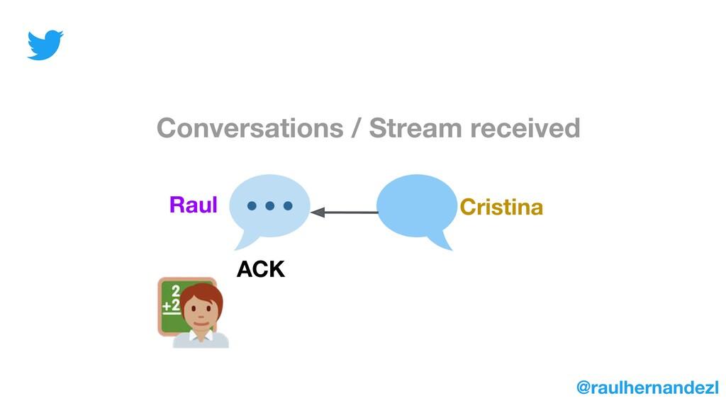 Conversations / Stream received Raul Cristina A...