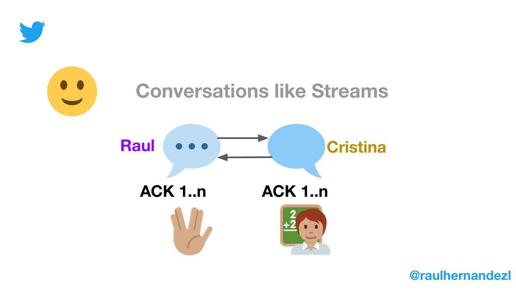 Conversations like Streams Raul Cristina ACK 1....