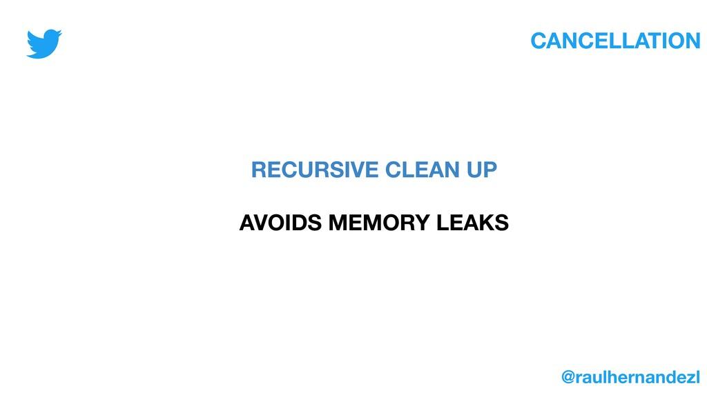 CANCELLATION RECURSIVE CLEAN UP AVOIDS MEMORY L...
