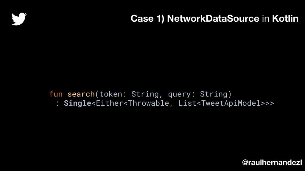 fun search(token: String, query: String) : Sing...