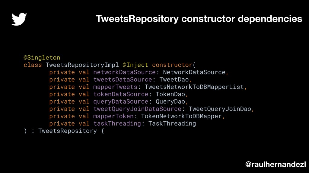 @Singleton class TweetsRepositoryImpl @Inject c...