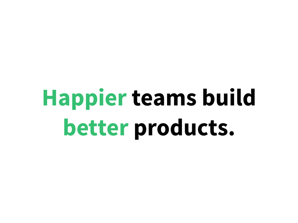 Happier teams build better products.