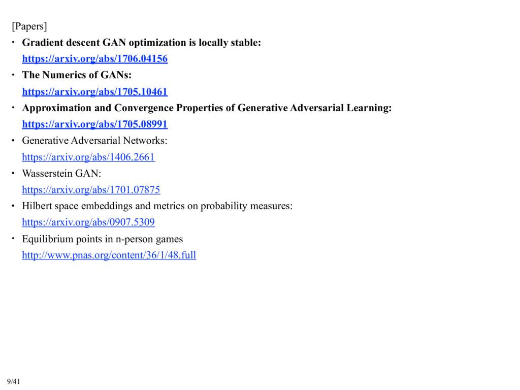 [Papers] • Gradient descent GAN optimization is...