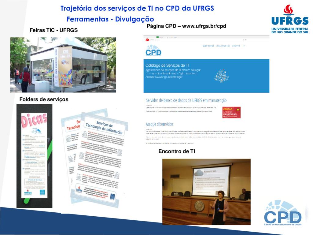 Feiras TIC - UFRGS Folders de serviços Encontro...