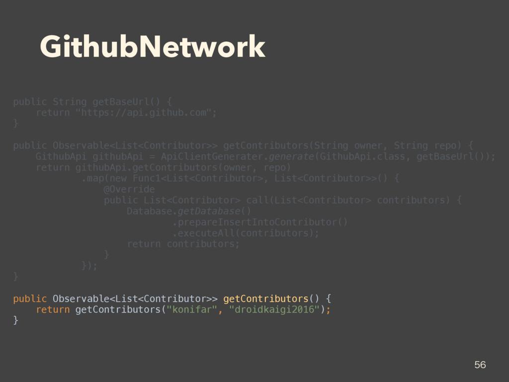 GithubNetwork public String getBaseUrl() { ret...