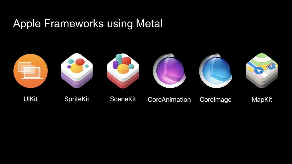 Apple Frameworks using Metal