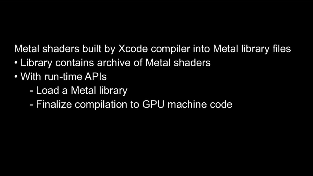 Metal shaders built by Xcode compiler into Meta...