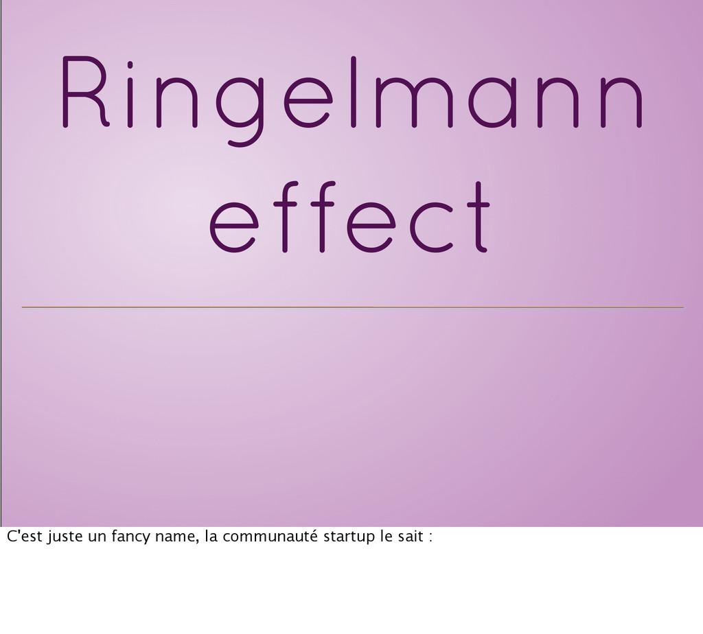 Ringelmann effect C'est juste un fancy name, la...