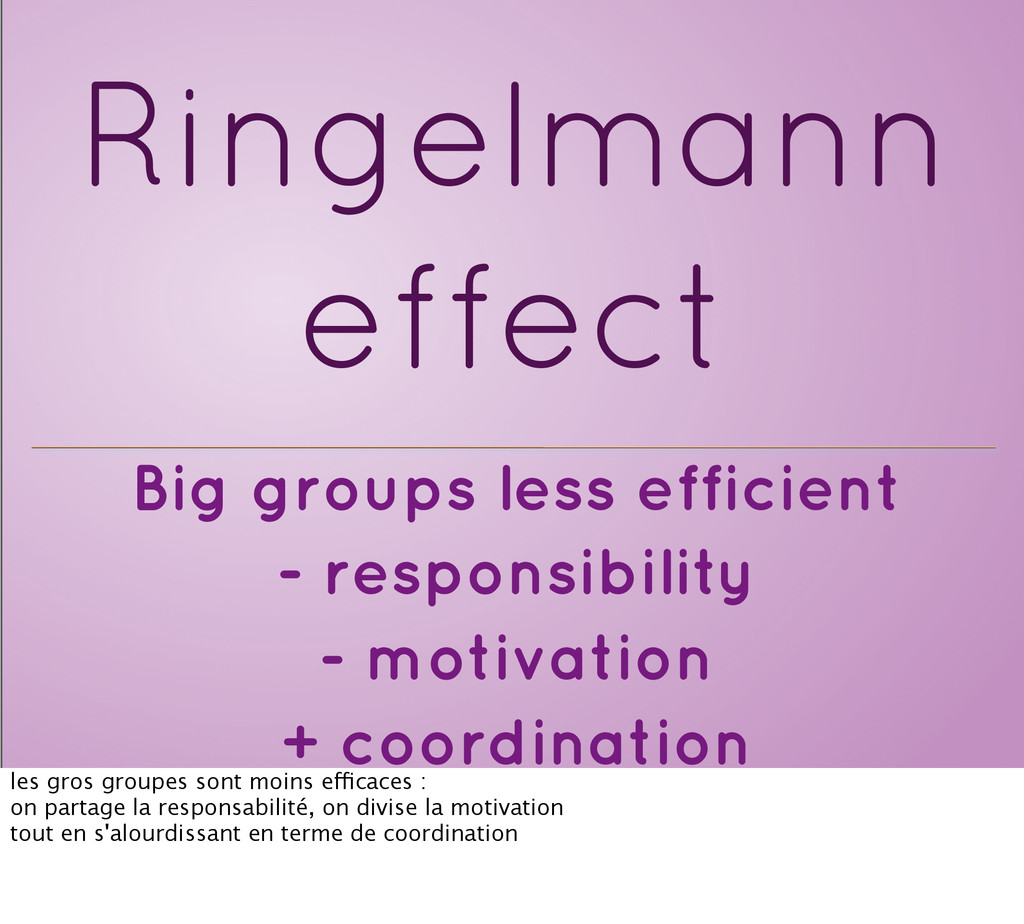 Big groups less efficient - responsibility - mo...