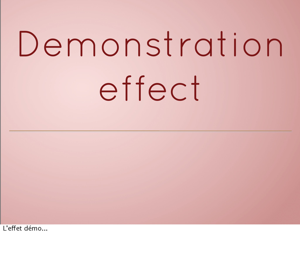 Demonstration effect L'effet démo...