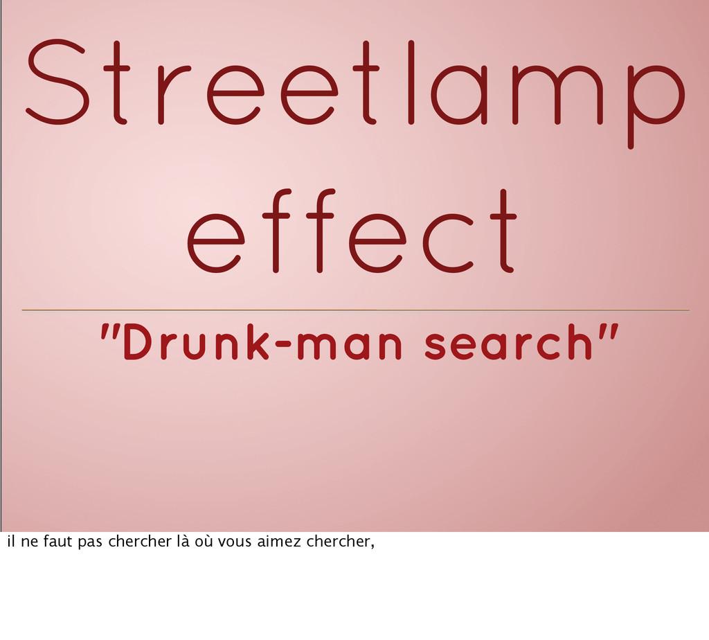 """""""Drunk-man search"""" Streetlamp effect il ne faut..."""