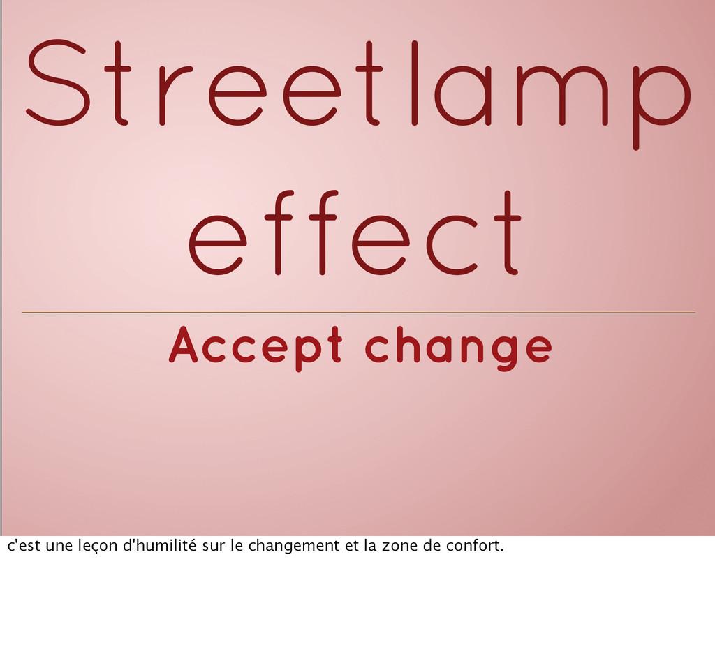 Accept change Streetlamp effect c'est une leçon...