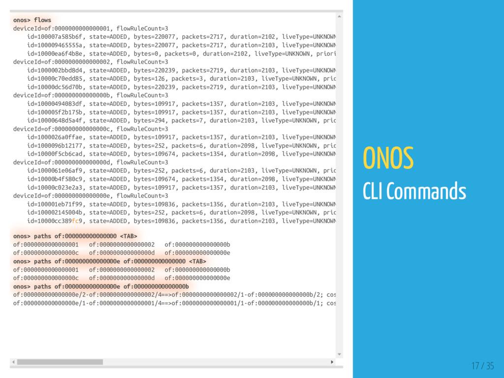 onos> flows deviceId=of:0000000000000001, flowR...