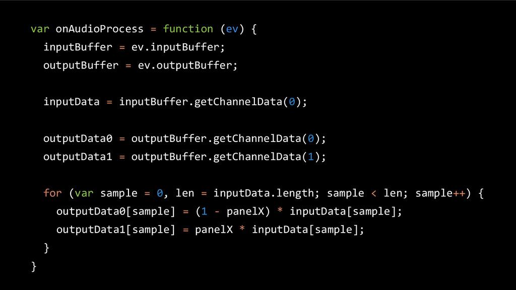 var onAudioProcess = function (ev) { inputBuffe...