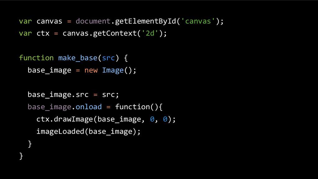 var canvas = document.getElementById('canvas');...