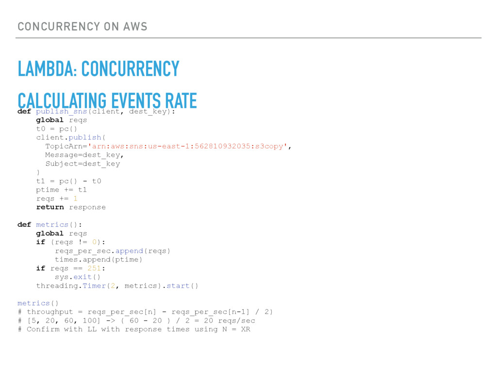 CONCURRENCY ON AWS LAMBDA: CONCURRENCY CALCULAT...