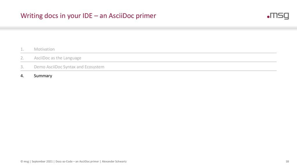 © msg   September 2021   Docs-as-Code – an Asci...