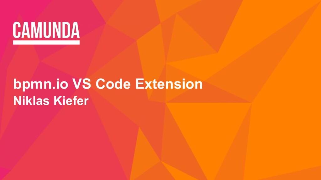 bpmn.io VS Code Extension Niklas Kiefer