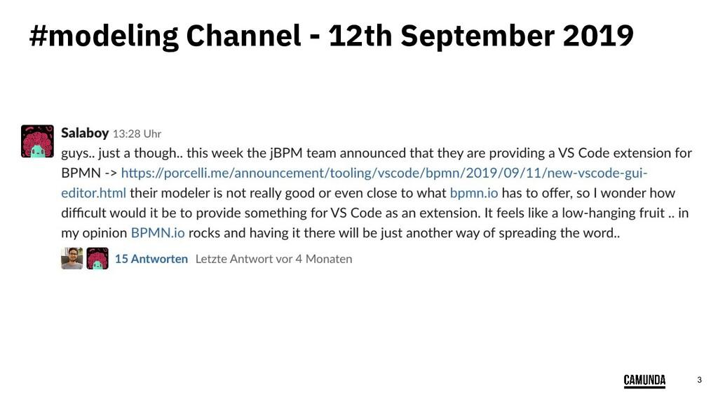 3 #modeling Channel - 12th September 2019