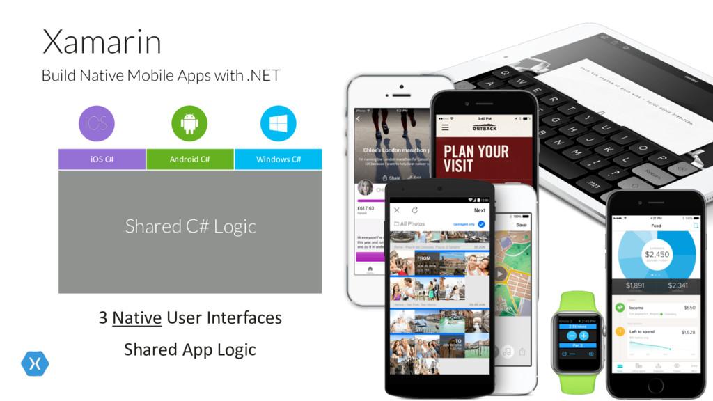 Xamarin 3 Native User Interfaces Shared App Log...