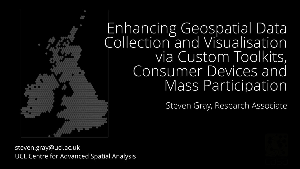 Enhancing Geospatial Data Collection and Visual...