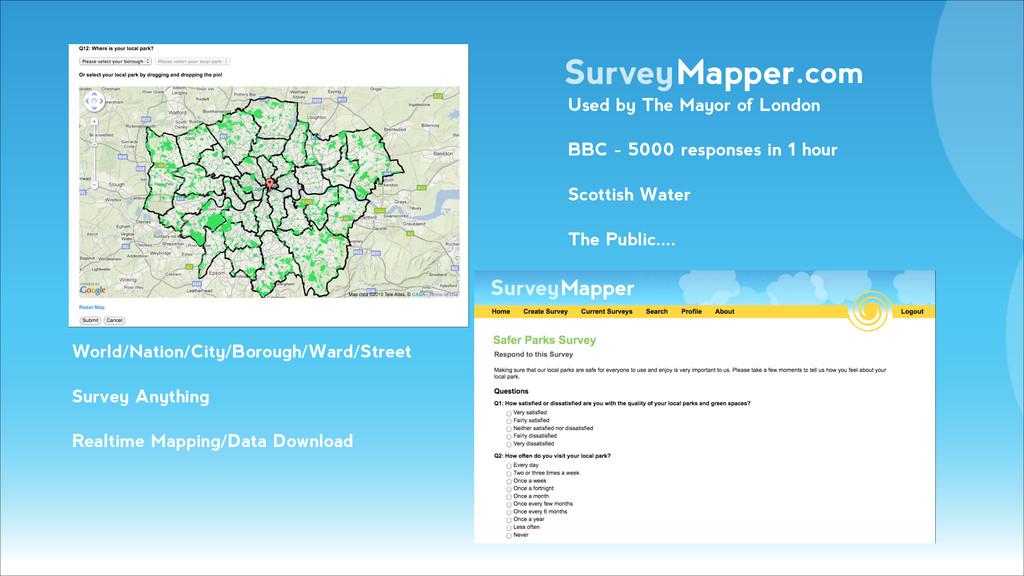 SurveyMapper.com World/Nation/City/Borough/Ward...
