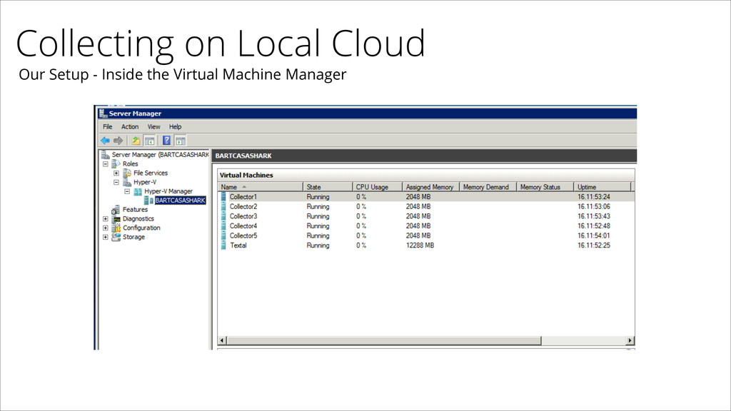 Collecting on Local Cloud Our Setup - Inside th...