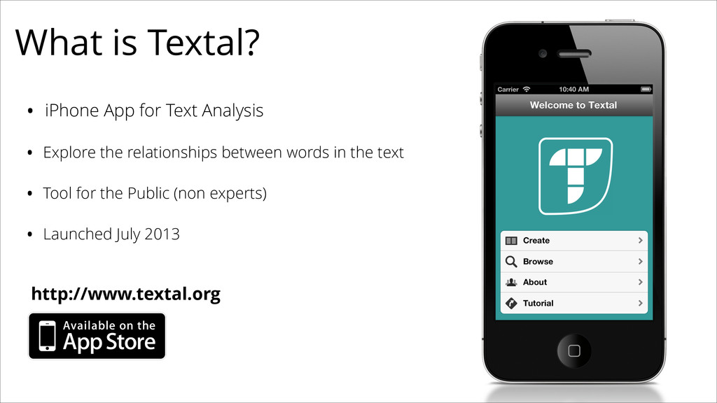 What is Textal? • iPhone App for Text Analysis ...