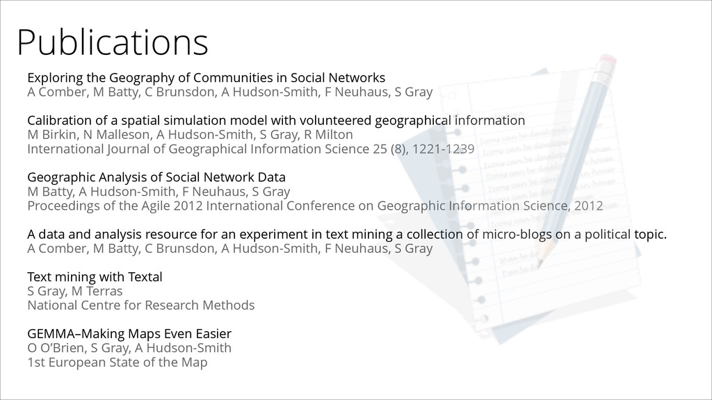 Publications Exploring the Geography of Communi...