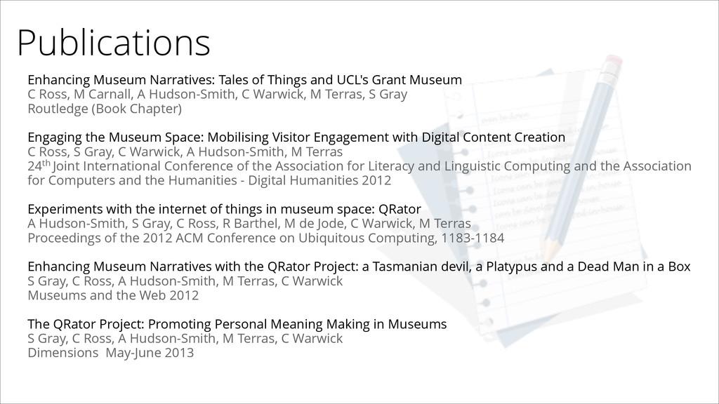 Publications Enhancing Museum Narratives: Tales...