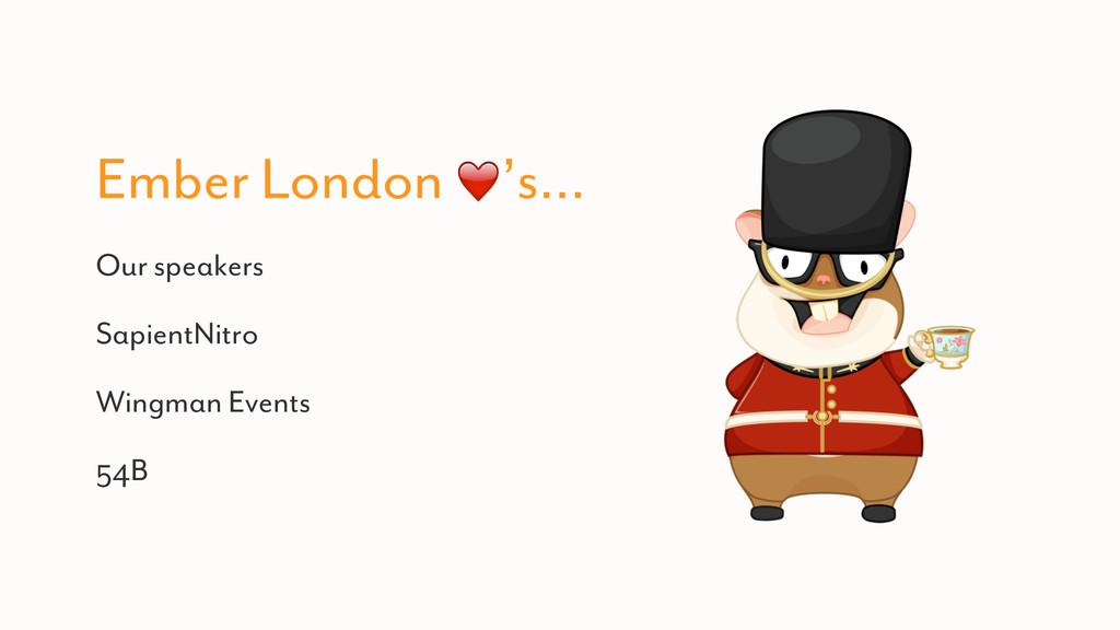 Ember London ❤️'s… Our speakers SapientNitro Wi...