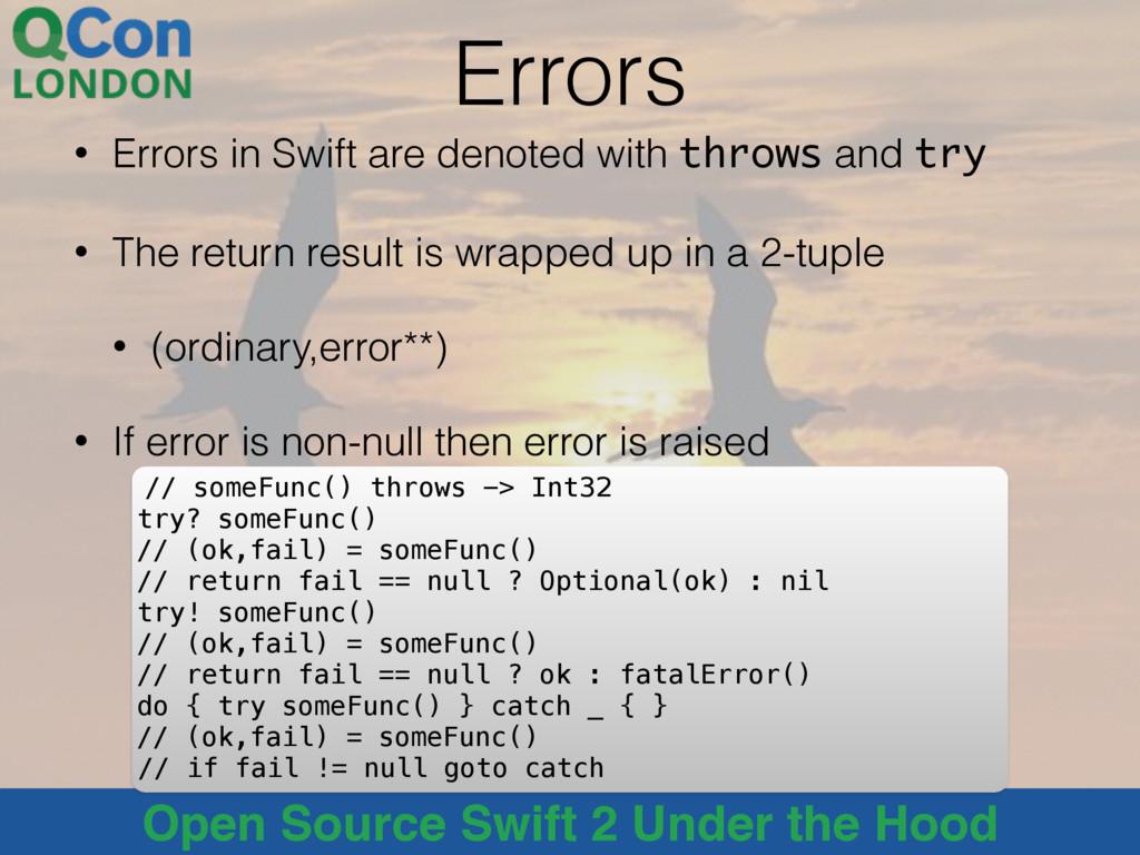 @alblue Open Source Swift 2 Under the Hood Erro...