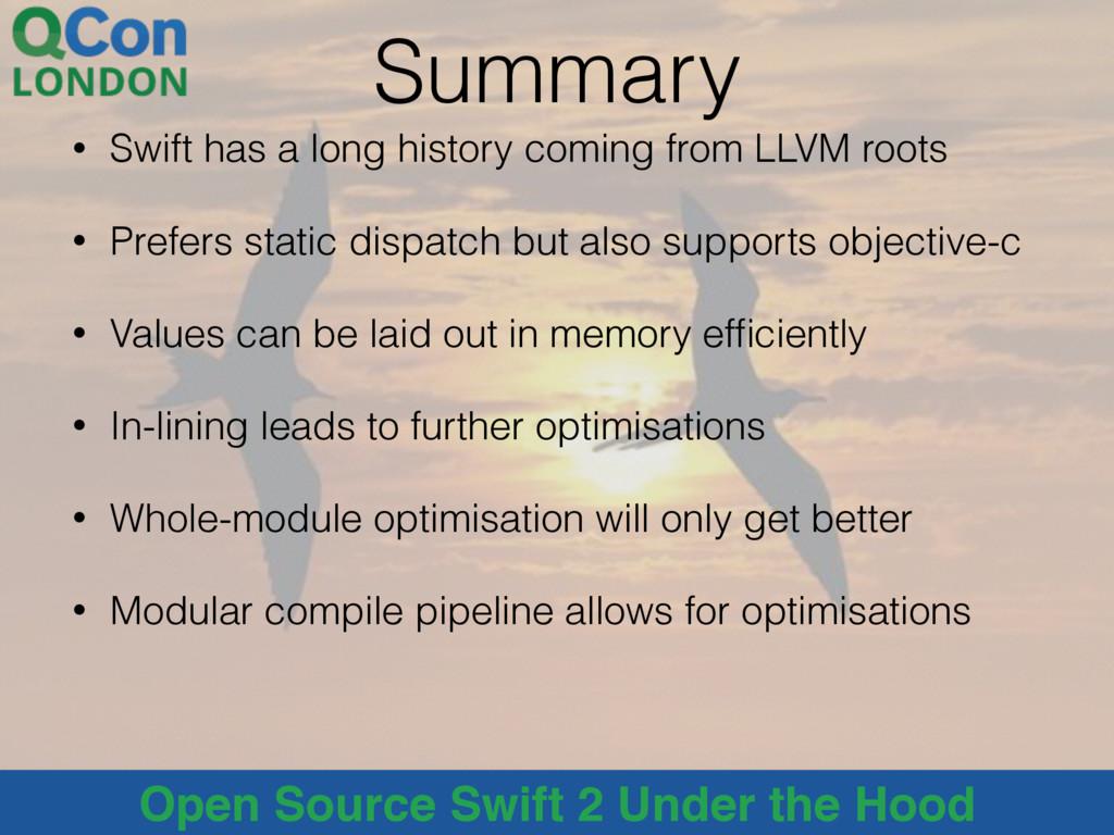 @alblue Open Source Swift 2 Under the Hood Summ...