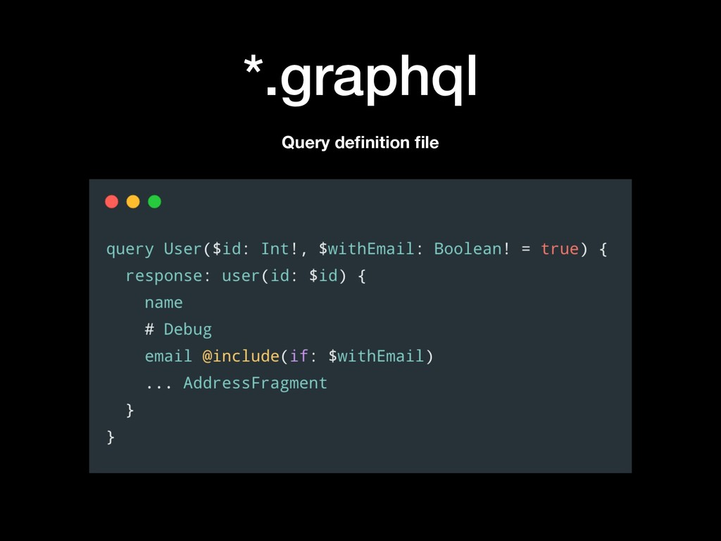 *.graphql Query definition file
