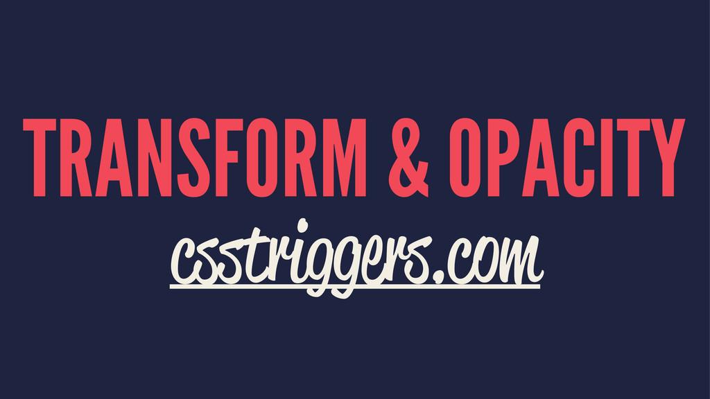 TRANSFORM & OPACITY csstriggers.com