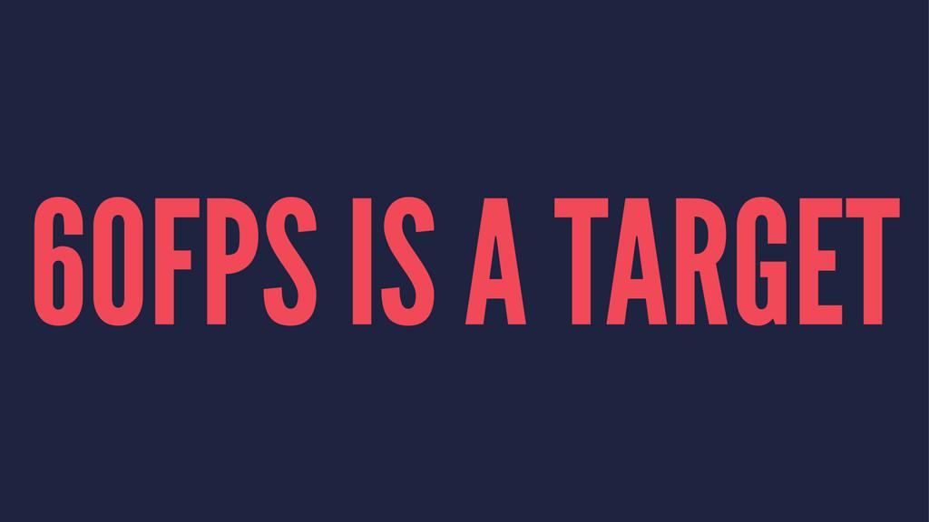 60FPS IS A TARGET